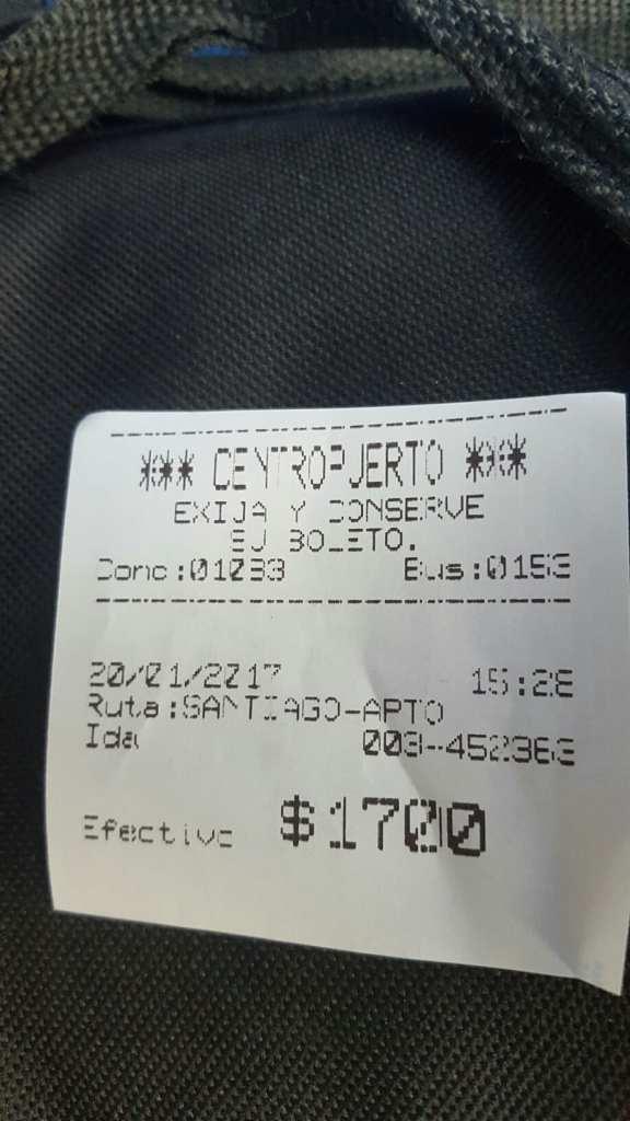 Santiago Airport Bus Ticket