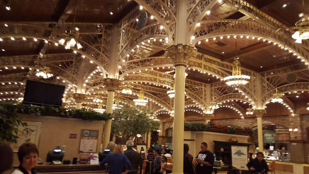 An image of Main Street Station Casino Garden Court Buffet, one of the cheapest buffets in Las Vegas
