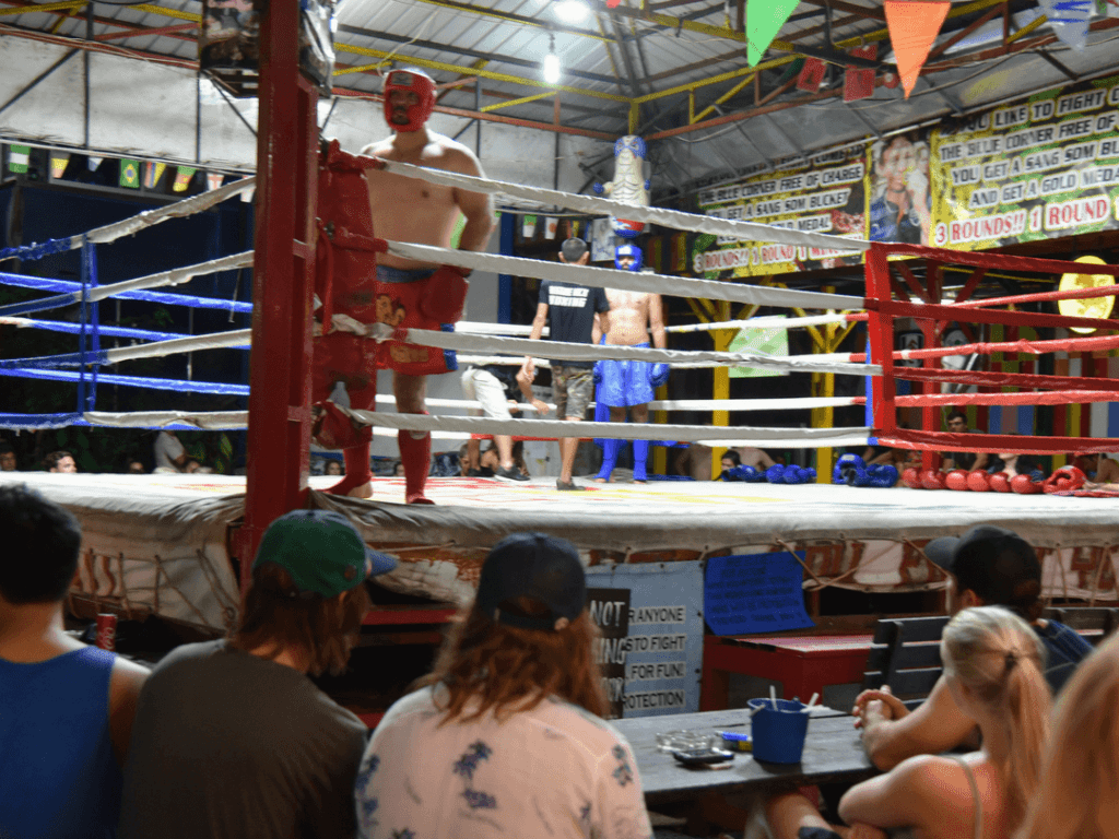 An-image-showing-thai-boxing-in-koh-phi-phi