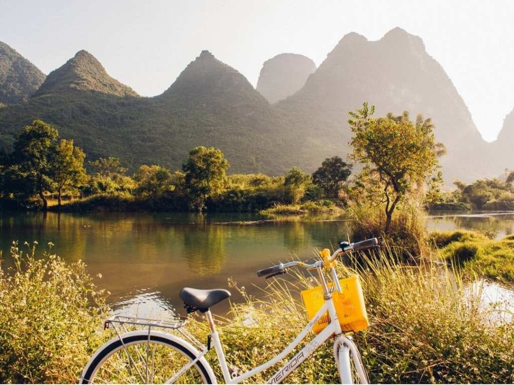 A photo of 20 Yuan Mountains near Guilin China from our China Travel Guide