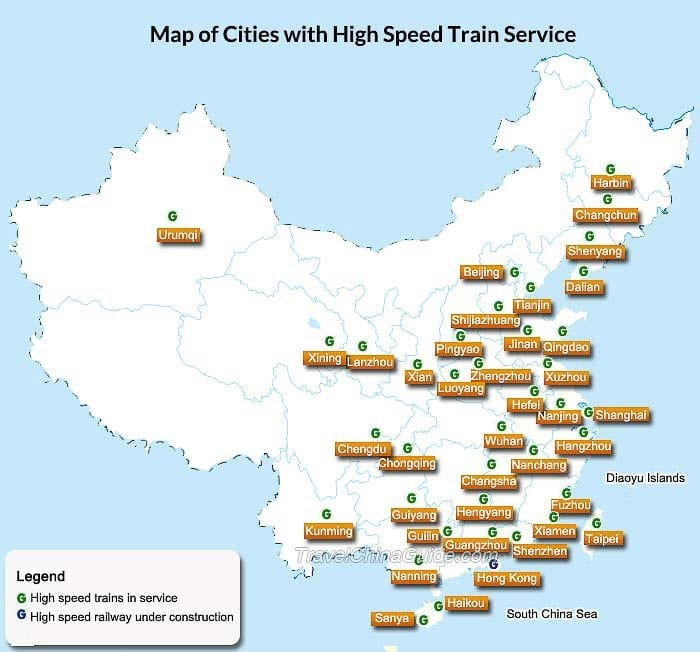 Best Train Routes in China | Bullet Train, High Speed Train (2018)