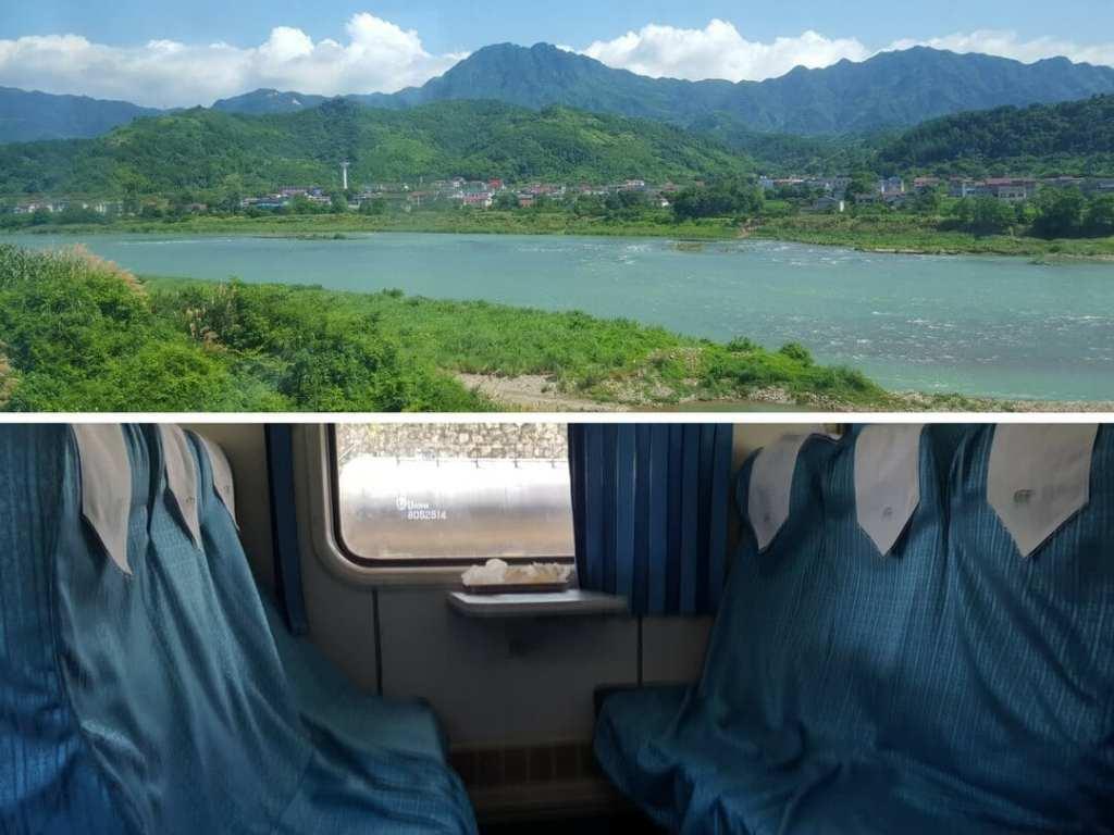 A photo of the train from Zhangjiajie to Chengdu