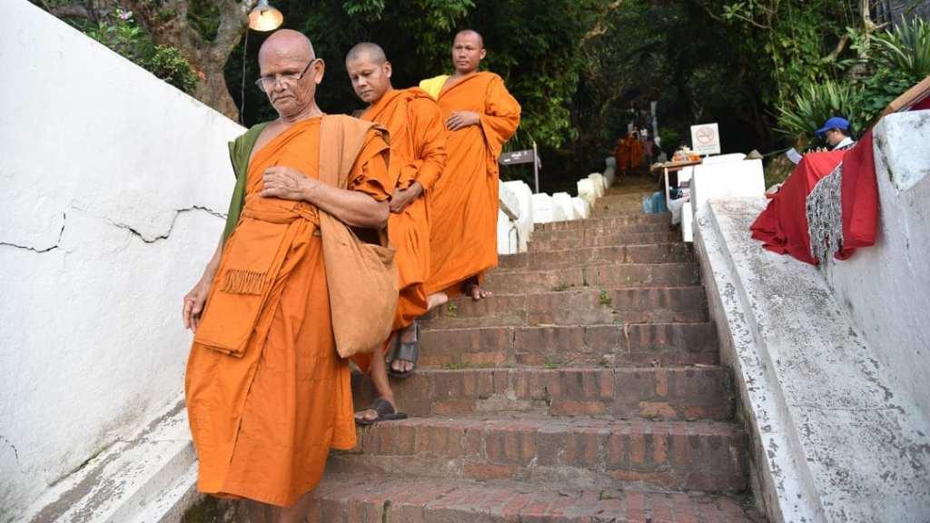 Phousi Mountain Stairs