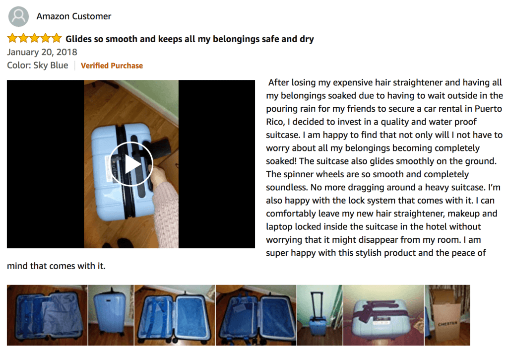 Amazon Review Chester Suitcase