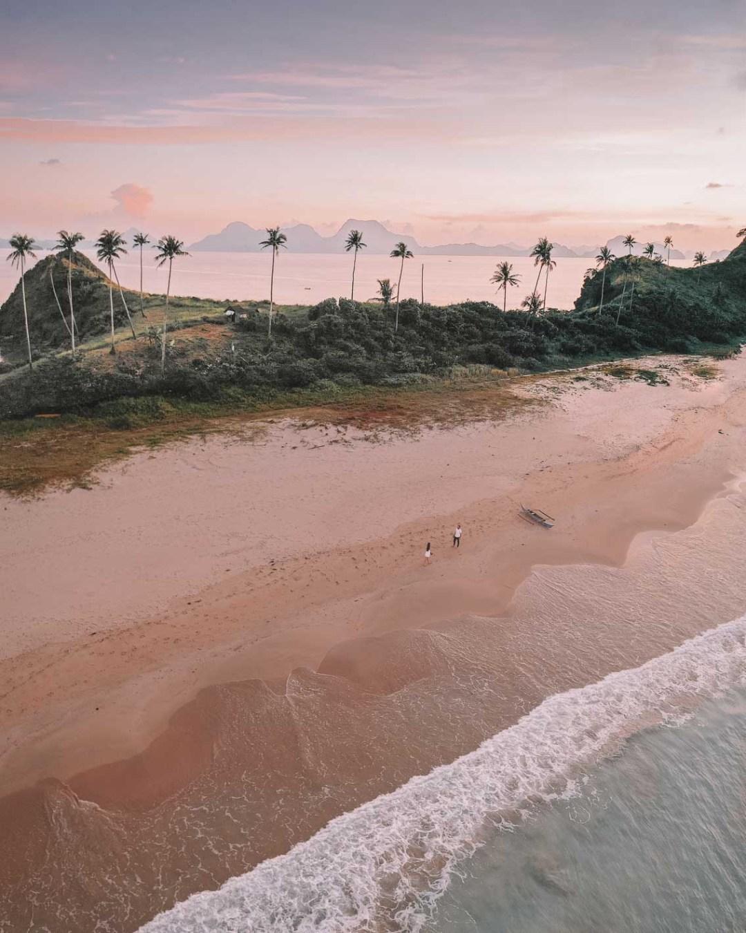 Nacpan Beach Sunset, el Nido Philippines
