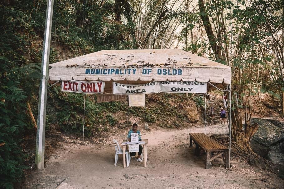 Cost of entry to Tumalog Falls Oslob