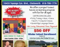 Oakridge Preschool & Infant Care, Chatsworth, coupons, direct mail, discounts, marketing, Southern California