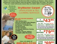 DryMaster Carpet, Chatsworth, coupons, direct mail, discounts, marketing, Southern California