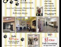 Happy Paws Grooming Salon, Granada Hills, coupons, direct mail, discounts, marketing, Southern California