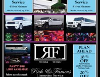 Rich & Famous Limousine Service, Granada Hills, coupons, direct mail, discounts, marketing, Southern California