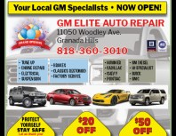 GM Elite Auto Repair, Granada Hills, coupons, direct mail, discounts, marketing, Southern California