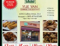 Yue Yan Chinese Food Boutique, Moorpark, coupons, direct mail, discounts, marketing, Southern California