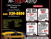 Hi-Tech Auto, Moorpark, coupons, direct mail, discounts, marketing, Southern California