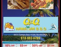 Q&Q Hawaiian BBQ, Porter Ranch, coupons, direct mail, discounts, marketing, Southern California