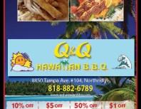 Q&Q Hawaiian BBQ, Porter Ranch, coupons, direct mail, discounts, marketing, Southern California