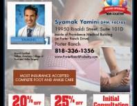 Syamak Yamini DPM, Porter Ranch, coupons, direct mail, discounts, marketing, Southern California