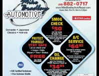Mike Bradley's Automotive, Porter Ranch, coupons, direct mail, discounts, marketing, Southern California
