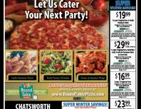 Round Table Pizza, Porter Ranch, coupons, direct mail, discounts, marketing, Southern California