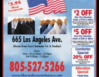 Liberty Cleaners, Simi Valley,, coupons, direct mail, discounts, marketing, Southern California