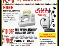 Kingdom Sewing & Vacuum Center, Simi Valley,, coupons, direct mail, discounts, marketing, Southern California