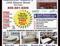 Mattress Gallery, Simi Valley,, coupons, direct mail, discounts, marketing, Southern California