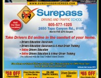 Surepass Driving and Traffic School, Simi Valley,, coupons, direct mail, discounts, marketing, Southern California