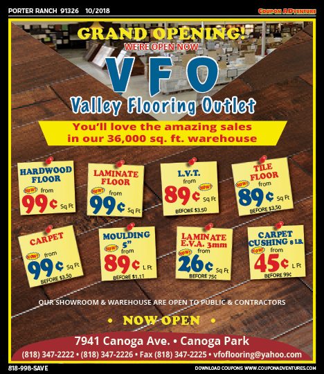 Pr18 Valley Flooring Outlet 91326 1018 Coupon Adventures