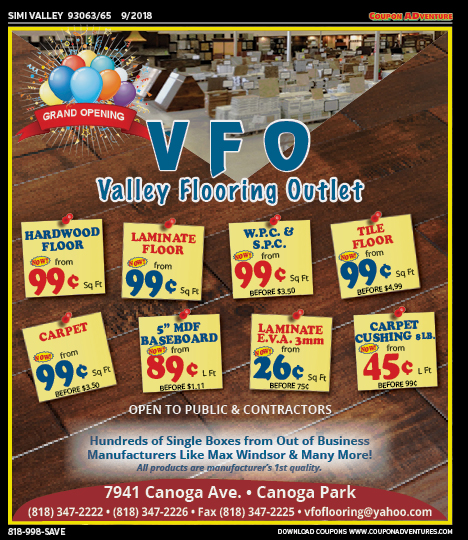 Sv42 Valley Flooring Outlet 93063 65 0918 Coupon Adventures