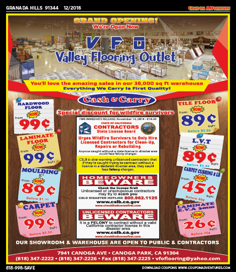 Gh08 Valley Flooring Outlet 91344 1218 Coupon Adventures