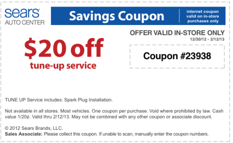 Sears Auto Coupon Get amazing discount