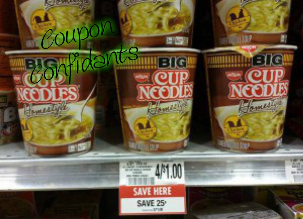Unadvertised freebie at Publix on Nissin Noodles cups