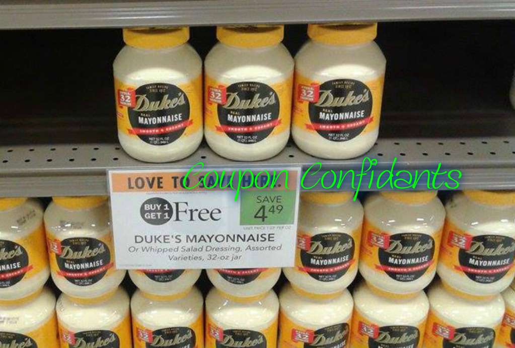 Duke's Mayonnaise as low as $1.49 each at Publix!
