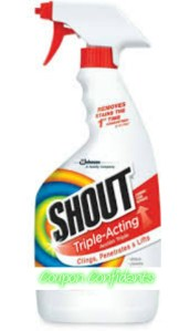 Makes me wanna shout! .43 for Shout stain remover at Target!