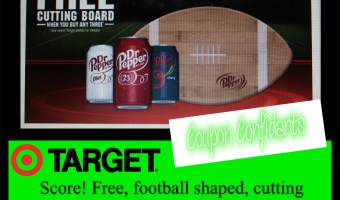 Score! Free football shaped cutting board when you buy 3 select Dr. Pepper products at Target