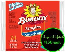 Publix: Borden Cheese Singles only $1.50 ~ Green Flyer
