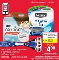 Schick Quattro Razor $7 coupon and B1G1 50% off Sale