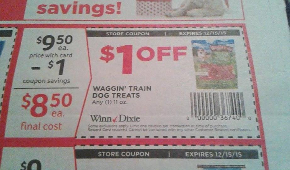 Waggin' Train treats only $4.50 @ Winn Dixie