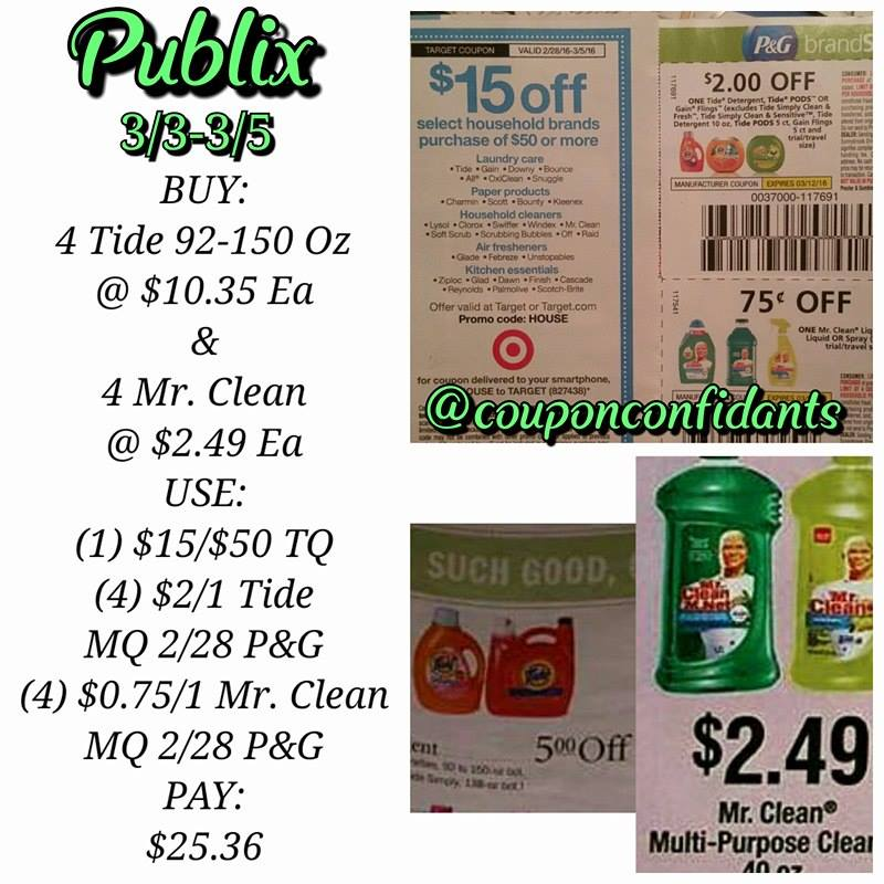 Publix BEST Deals 3/2 to 3/8 OR 3/3 – 3/9 ~ Gas card week! Lots of Money Makers & under $1 deals!