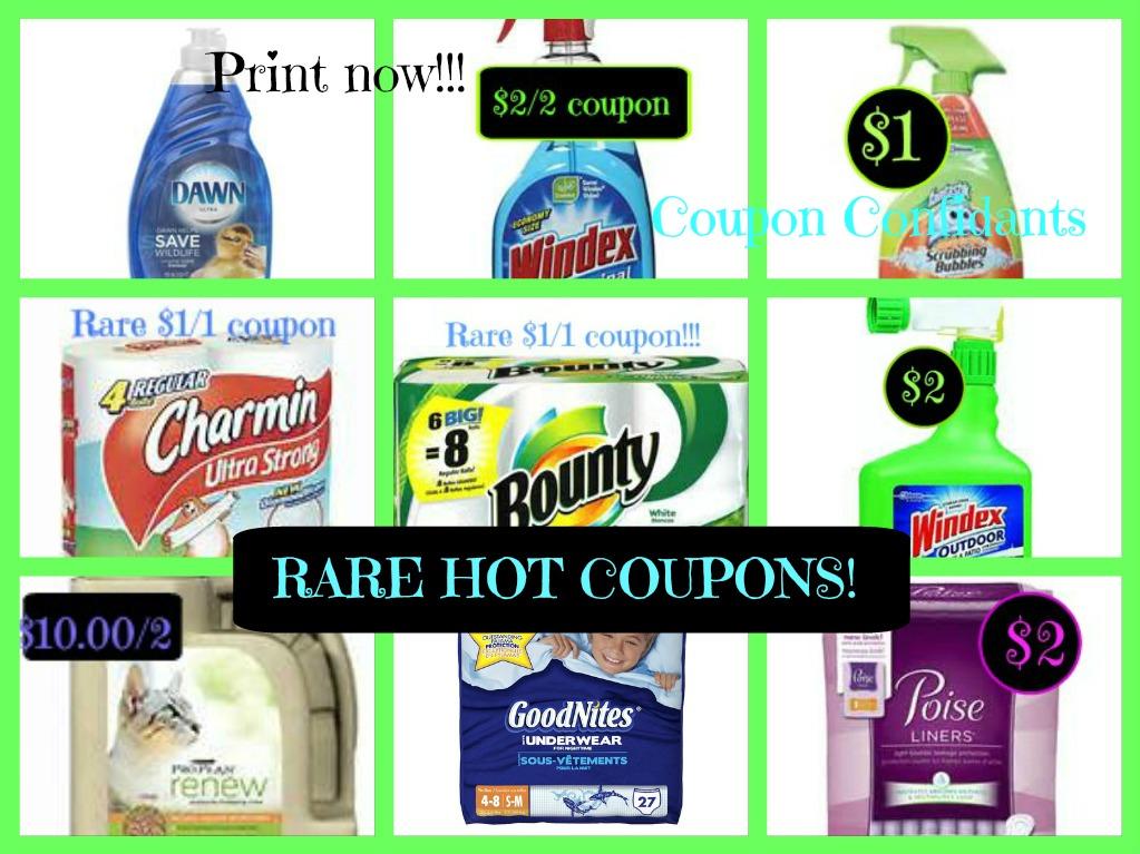 Hot High Value Rare Charmin Bounty 1 1 Windex Scrubbing Bubbles Printables More Coupon Confidants