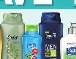 Suave shampoo and body wash .54¢  @ Dollar General