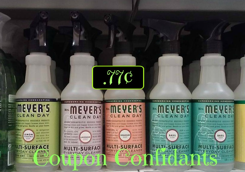 Mrs Meyer's Cleaners as low as $.77¢ each at Publix!