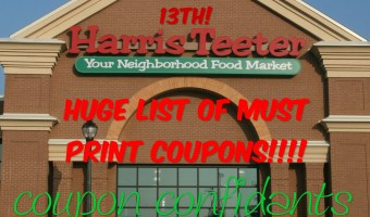 Harris Teeter's SUPER doubles April 13?? Maybe