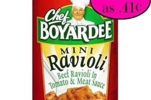 Last day ~ Chef Boyardee as low as .41¢ each at Winn Dixie