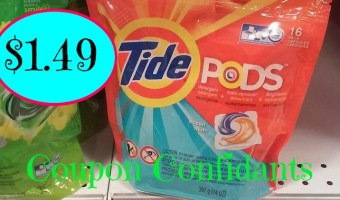 Tide pods, 16ct. only $1.49 @ Publix!