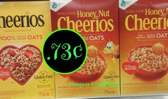 Cheerios just .73¢ @ Bi Lo Print now this coupon will go fast!
