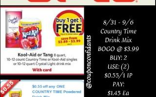 *BI-LO* Country Time Lemonade Only $0.90 Ea