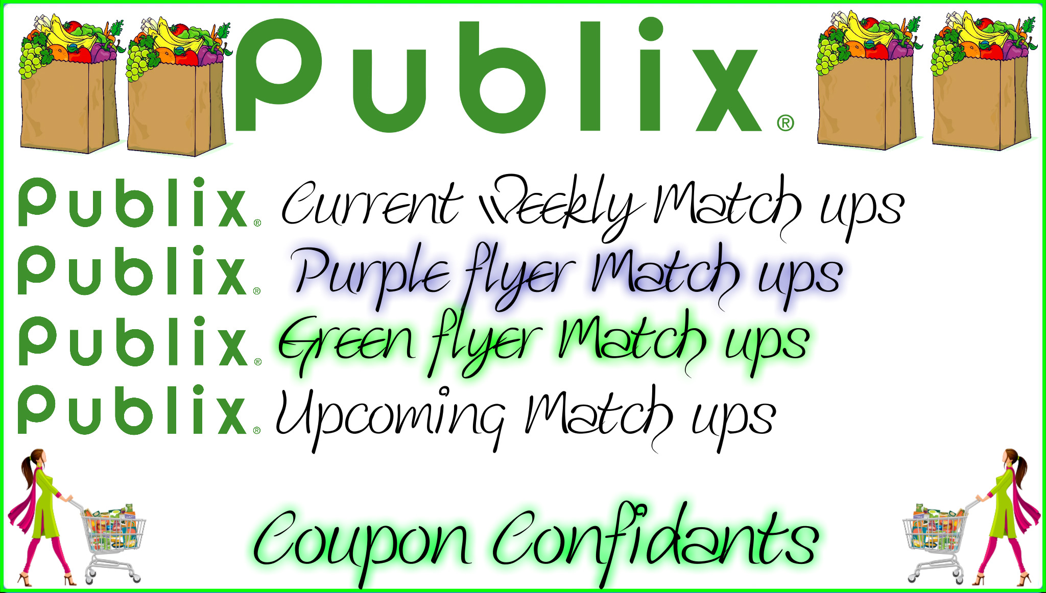 Main Publix Page - Links to ALL flyers, current match ups, AND upcoming ones!!