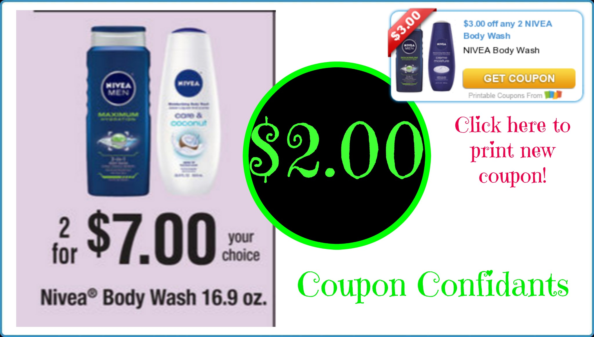 picture relating to 3.00 Off Nivea Printable Coupon titled Nivea Physique Clean $2.00 @ Publix! Click on right here in direction of print fresh