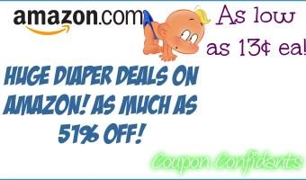 Diaper Deal Alert!!! Many options! HUGE savings on Amazon