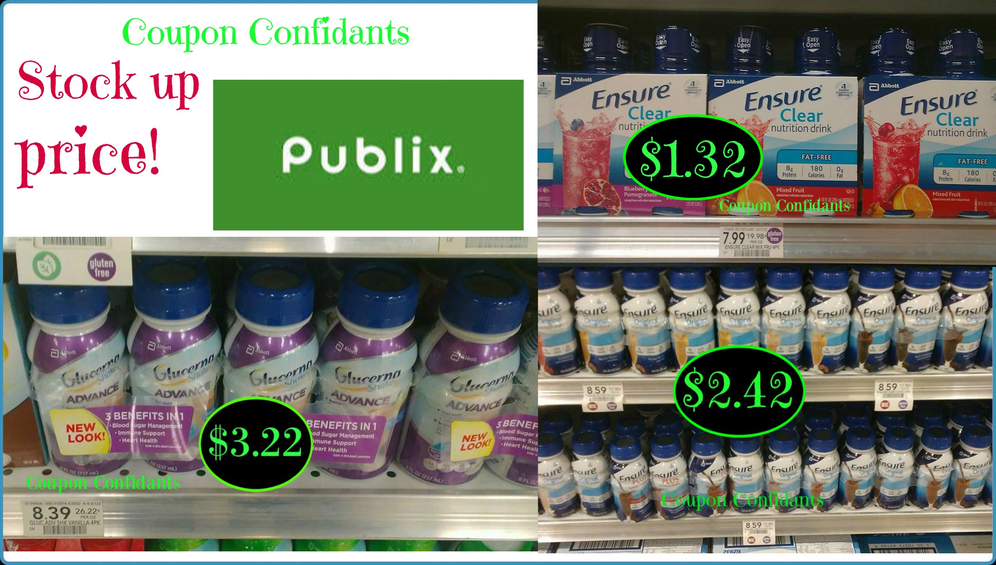 Stock Up Price Ensure And Glucerna As Low As 1 32 Publix